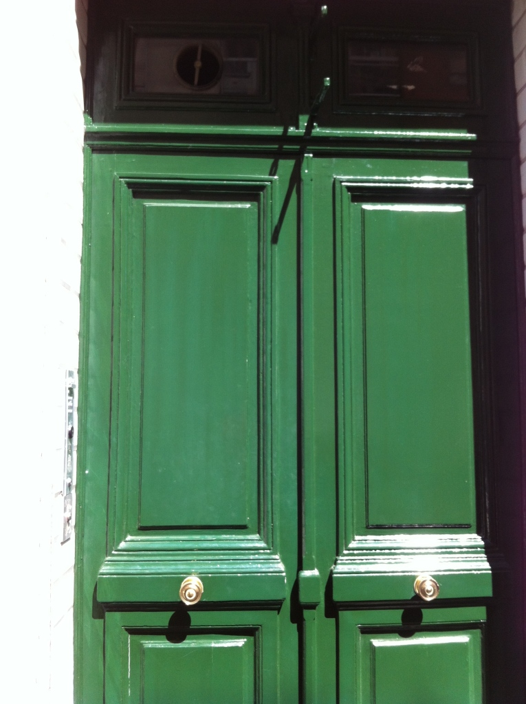 Green Parisan Door