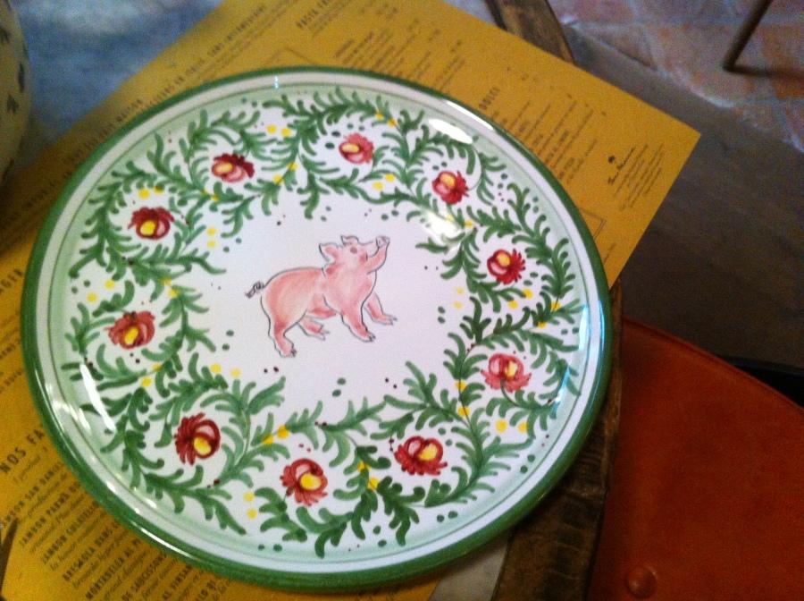 Cute pig plate