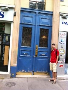 Blue Parisan door