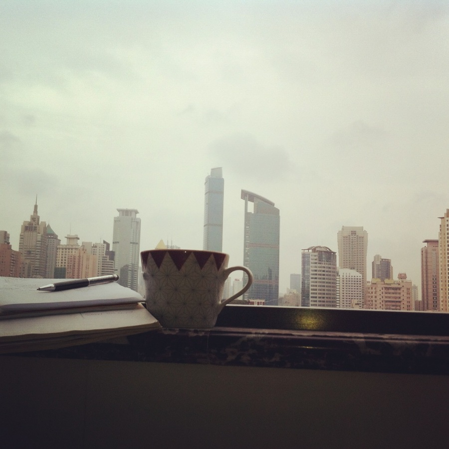 Sunday morning in Shanghai
