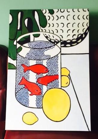 New house art food always food a n n i m a l h o u s e for Fish food golf balls