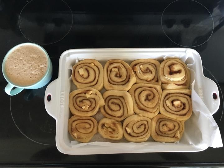 Sunday cinnamon rolls and coffee